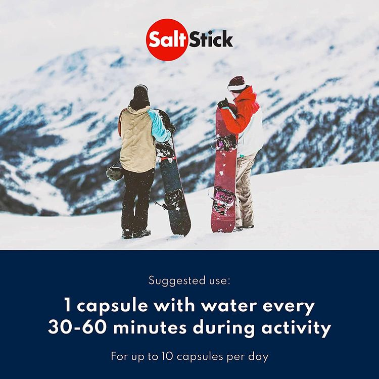 SaltStick Caps, Electrolyte Supplement Capsules for Rehydration, Exercise, Hiking & Sports Recovery, Gluten Free, Non-GMO, 100 Capsules