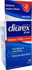 Diurex Ultra Re-Energizing Water Pills - Relieve Water Bloat - Feel Better & Less Heavy - 80 Count