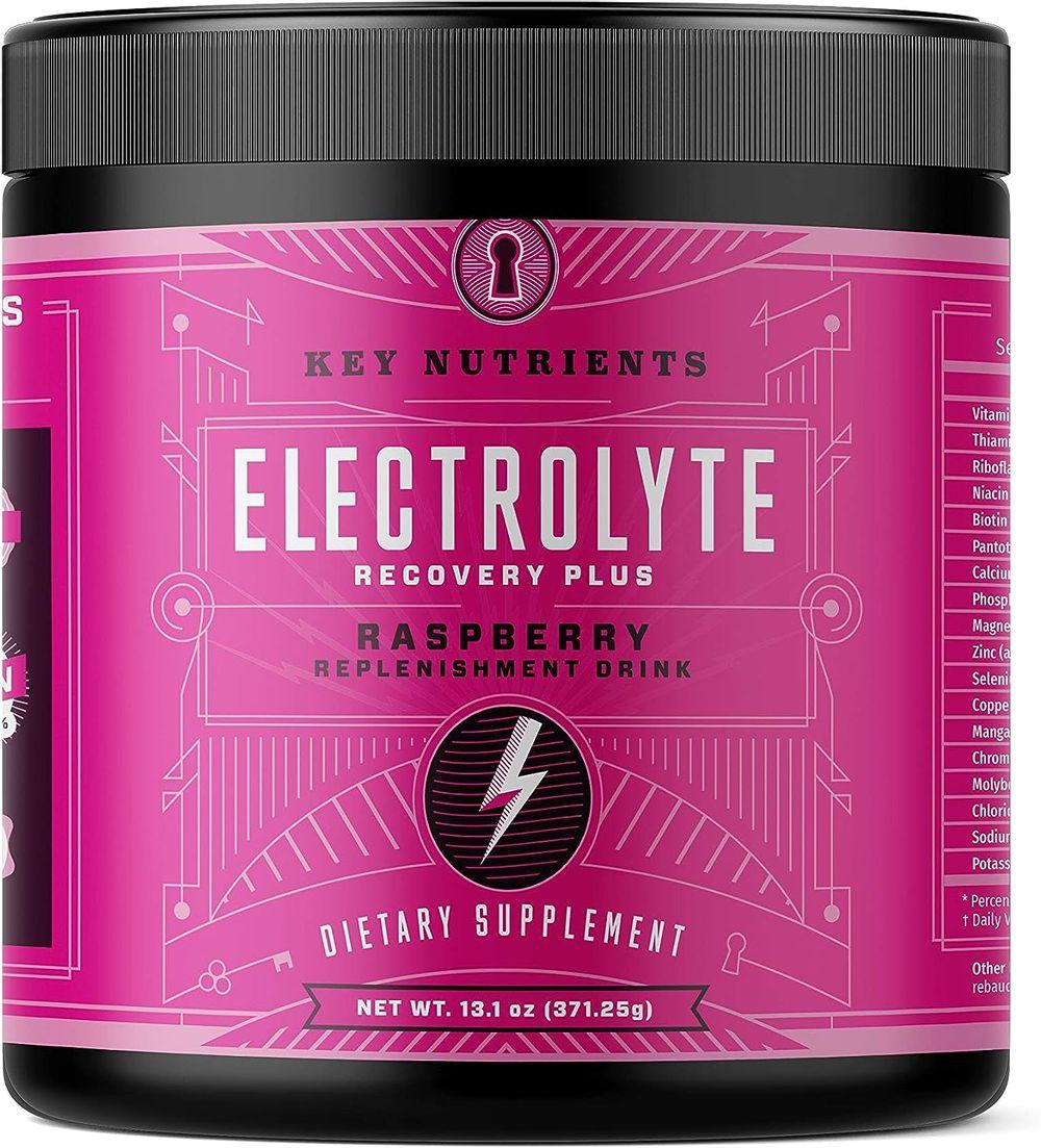 Electrolyte Powder, Raspberry Hydration Supplement: 90 Servings, Carb, Calorie & Sugar Free, Delicious Keto Replenishment Drink Mix. 6 Key Electrolytes - Magnesium, Potassium, Calcium & More.