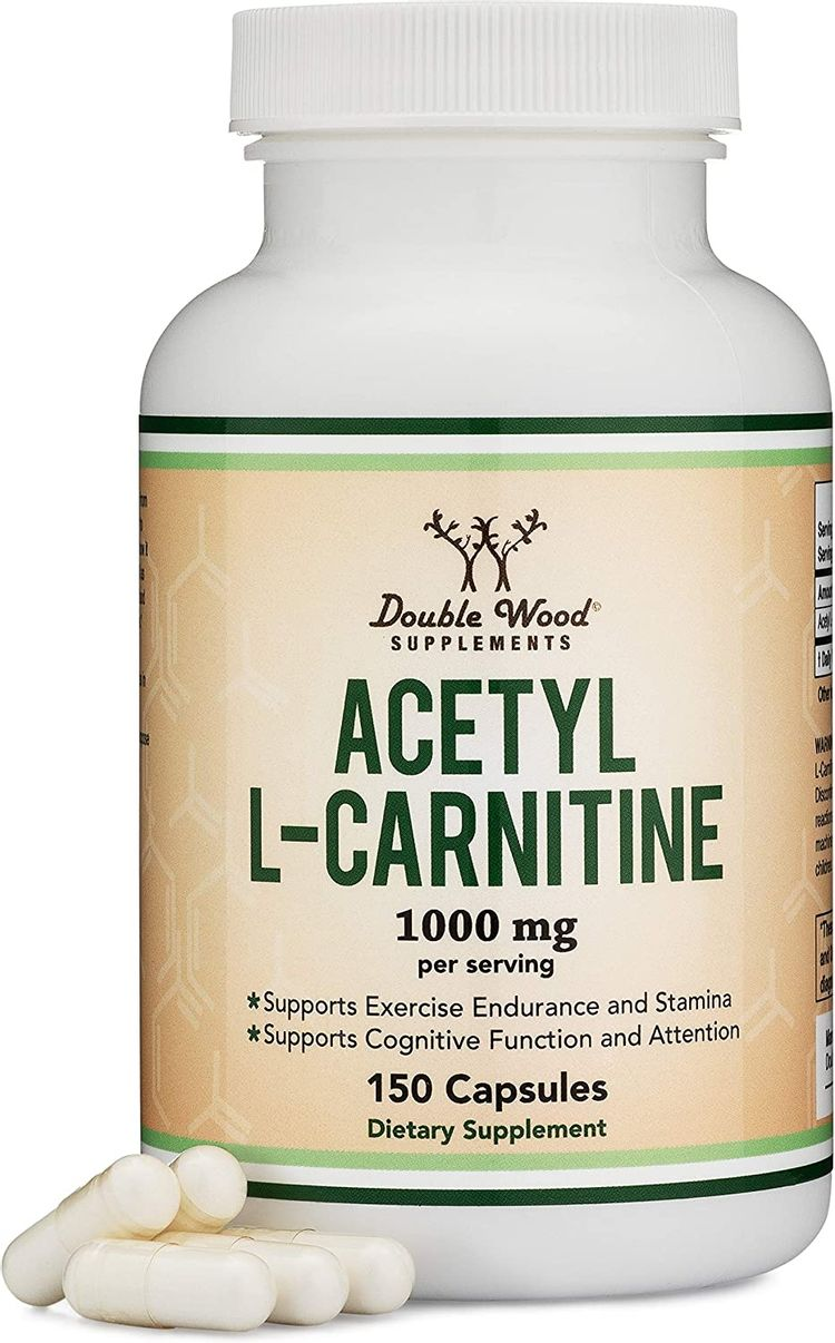 Acetyl L Carnitine (150 Capsules, 75 Day Supply) 1,000mg ALCAR for Brain Function Support, Memory, Attention, and Stamina - Made and Tested in The USA by Double Wood Supplements