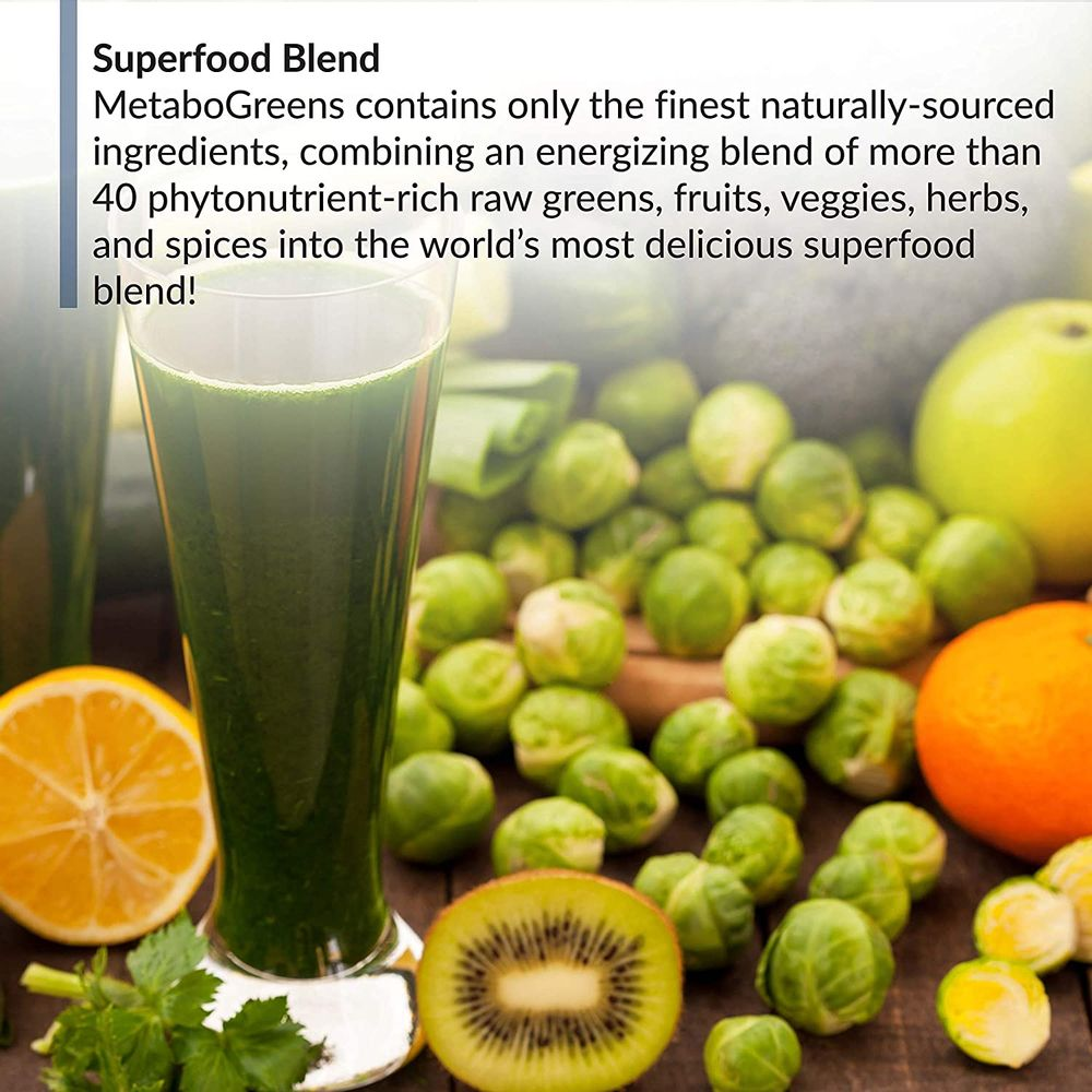 BioTrust MetaboGreens Superfood Powder, Super Greens Vegetable Powder Mix Made with Clinically-Researched Spectra, Non GMO, Soy Free, Gluten Free, Dairy Free, Energizing Berry Flavor (30 Servings)