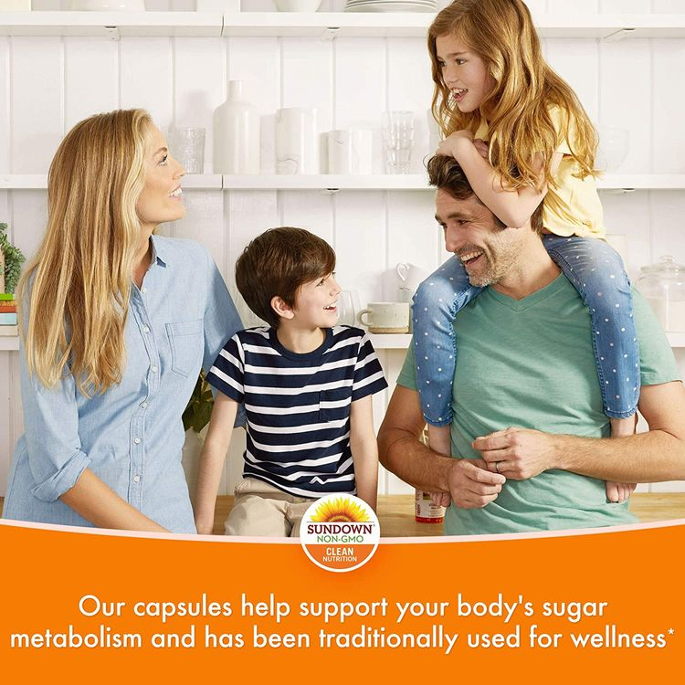 Cinnamon Capsules by Sundown, Support Sugar Metabolism, Non-GMOˆ, Free of Gluten, Dairy, Artificial Flavors, 1000 mg, 200 Capsules