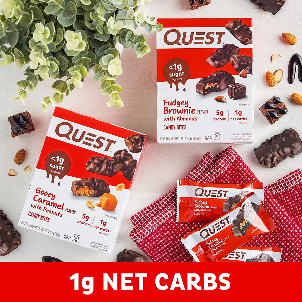 Quest Nutrition Fudgey Brownie Candy Bites, 24 Count