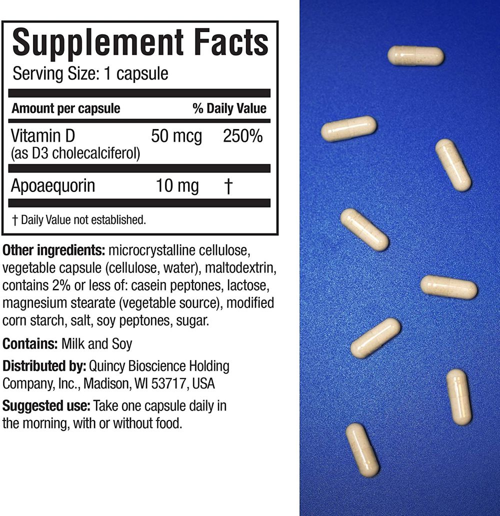 Prevagen Improves Memory - Regular Strength 10mg, 30 Capsules, with Apoaequorin & Vitamin D | Brain Supplement for Better Brain Health, Supports Healthy Brain Function and Clarity | Memory Supplement