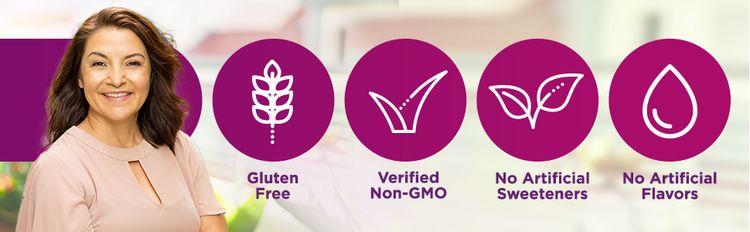 Gluten Free, Verified Non GMO, No Artificial Sweeteners, No Artificial Flavors