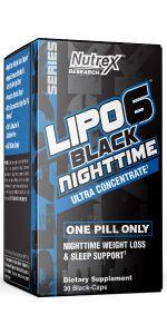 Lipo6 Black Nighttime Sleep Aid Appetite Suppressant Fat Burner