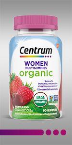 Centrum Organic Multigummies Women 90ct