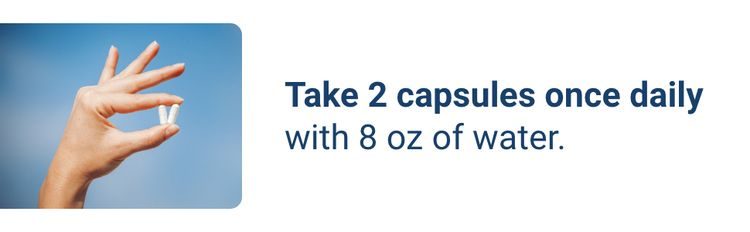 take 2 capsules once daily