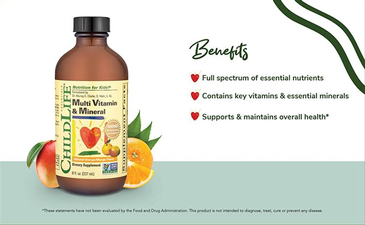 childlife multi vitamin mineral supplement