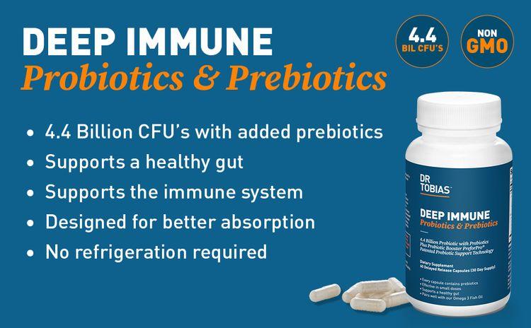 dr. tobias, immune, probiotics, prebiotics, digestion, digestive, gut, health, dietary, supplement