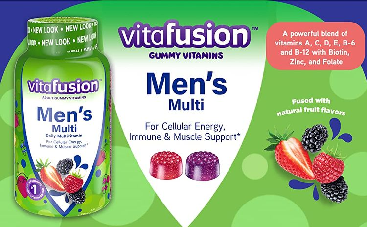 Vitafusion Men's Multi For Cellular Energy, Immune & Muscle Support