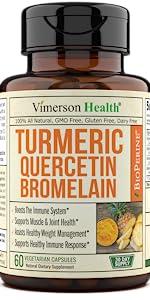 Turmeric Curcumin Bromelain Quercetin Bioperine