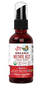 Methyl B12 Liquid Spray by MaryRuth's