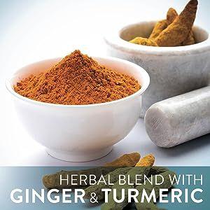 Herbal blend with ginger & tumeric