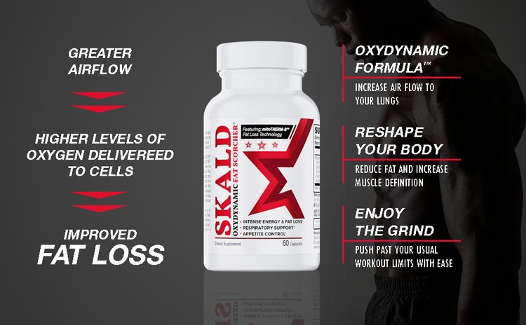 SKALD Thermogenic Fat Burner for Men and Women, Respiratory Support, Elevated Mood, Appetite Control