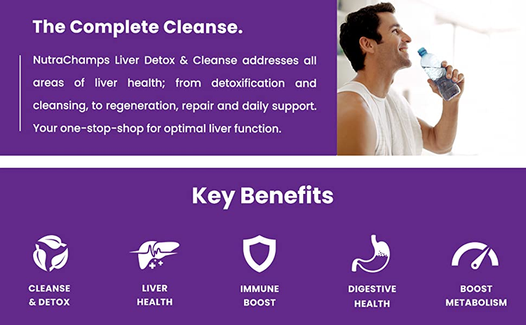 liver detox and cleanse supplement for liver health - vegan capsules - liver gut health pills