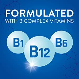 Formulated with b complex vitamins. B1 B12 B6