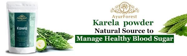 Karela Powder Bitter Melon Bitter Gourd Powder Blood Sugar Supplements Neem Triphala Amla Haritaki