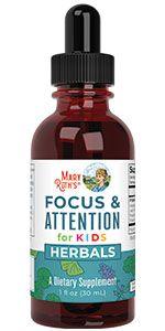 mary ruth organics kids focus and attention herbal supplement adaptogenic vegan non gmo