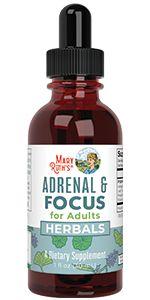 mary ruth organics adrenal focus adult herbal liquid drops calming nervine