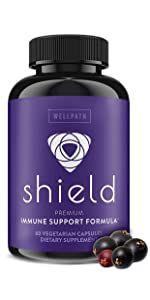 SHIELD 5-in-1 Immune Support Formula with Sambucus Black Elderberry