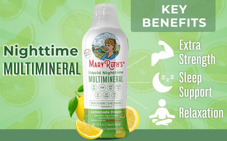 Mary Ruth's Non GMO Vegan Nighttime Multi-mineral Liquid