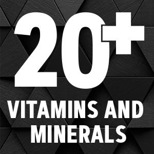 20+ vitamins and minerals
