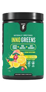 inno greens superfoods blend probiotic wellness green juice