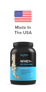 legion whey+ whey protein isolate from grass fed cows