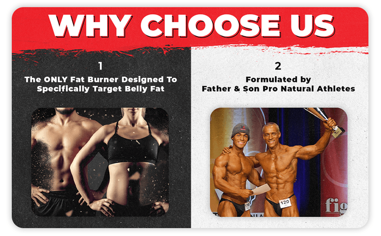 Why Choose Us -We're The Only Fat Burner Scientifically Shown to Target Belly Fat