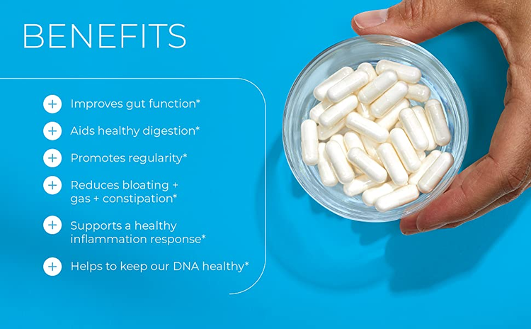 improve gut function aids digestion healthy gut scfa reduces bloating gas constipation DNA butyrate