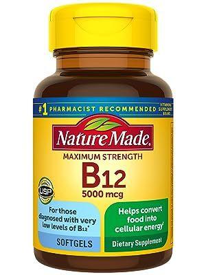 Maximum Strength Vitamin B12 5000 mcg Softgels
