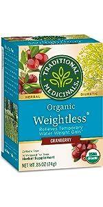 Traditional Medicinals Organic Weightless Cranberry Women's Tea