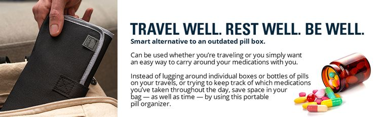 travel companion travel pouch luggage pouch easy travel space saver medication reminder weekly