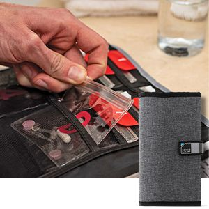 pill pouch ultra compact pouch thin pockets thin wallet thin carrier thin organizer medicine holder