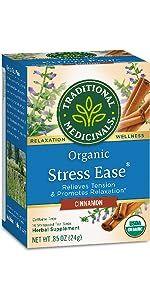 Traditional Medicinals Organic Stress Ease Cinnamon Relaxation Tea