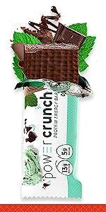 chocolate mint Power Crunch Protein Energy Bar