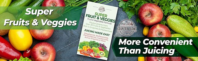Country Farms super fruits and veggies super foods convenient juicing immune veggies foods with vita