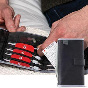 daily medicine easy slide lock numbered case daily medicine reminder convenient holder wallet pocket