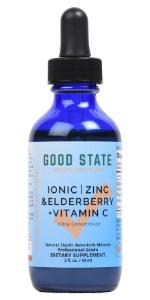 Good State Liquid Nano Ionic Zinc, Elderberry, Vitamin C Supplement 2 fl oz