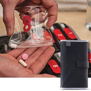 vitamin holder convenient vitamin carrier supplement vitamins case small pouch weekly medicine