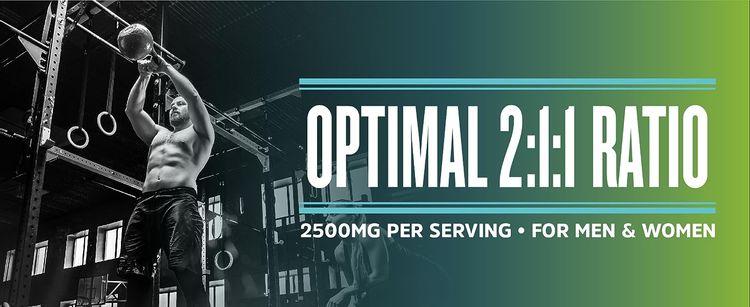 Optimal 2:1:1 Ratio, 2500MG Per Serving, For Men and Women.