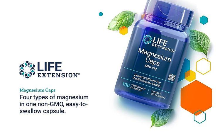 Life Extension, Magnesium Caps, Magnesium