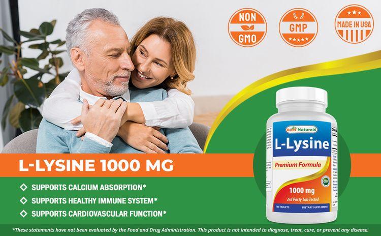 L-Lysine 1000 mg 180 Tablets
