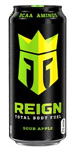 CoQ10 BCAA Zero Sugar Zero Calories workout drink muscle recovery Sour Apple crown knight can