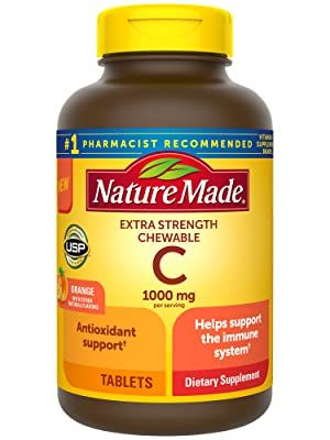 Nature Made Extra Strength Vitamin C Chewable 1000mg, Immune Support, Antioxidant