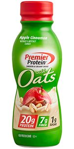 Premier Protein shake, Apple Cinnamon, shake with oats, 20g Protein